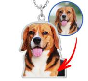 Photo Outline Dog Pendant or Charm w  18  Chain Included