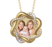 Braided Vine Photo Pendant
