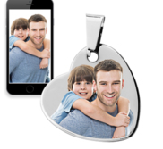 Photo Engraveable Tungsten Dangle Heart