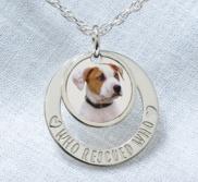 Personalized Photo Engraved Pet Swivel Pendant