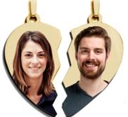 Double Heart Pendant Split in Two