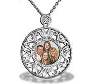 Sterling Silver Diamond Photo Pendant