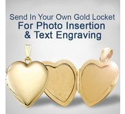 Send your GOLD Locket to have a photo put in