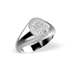 Saint Christopher Signet Ring  EXCLUSIVE