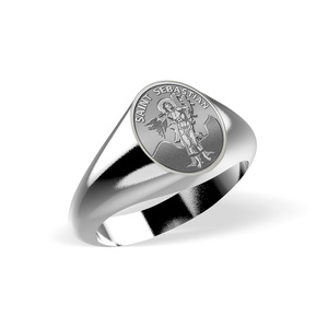 Saint Sebastian Signet Ring  EXCLUSIVE