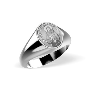 Saint Francis of Assisi Signet Ring  EXCLUSIVE