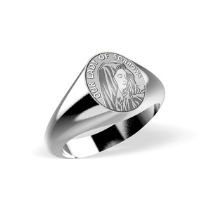Our Lady of Sorrows Signet Ring  EXCLUSIVE