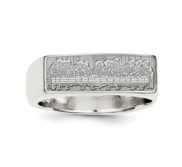 Sterling Silver Last Supper Signet Ring