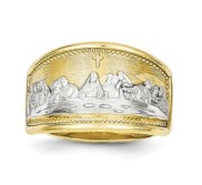 10k Two Tone Gold Ladies Last Supper Ring