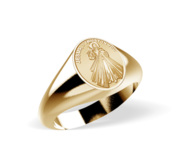 Divine Mercy Jesus Signet Ring  EXCLUSIVE