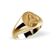 Sacred Heart of Jesus Signet Ring  EXCLUSIVE
