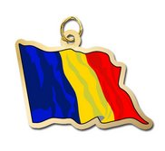 Romania Flag Charm