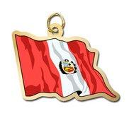 Peru Flag Charm