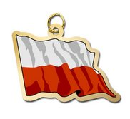 Poland Flag Charm