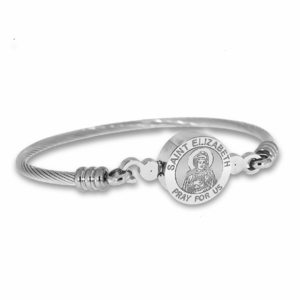 Stainless Steel Saint Elizabeth  of the Visitation   Mary s Cousin  Bangle Bracelet