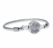 Stainless Steel Saint Jude Thaddeus Bangle Bracelet