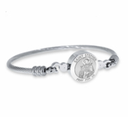 Stainless Steel Saint Stephen Bangle Bracelet
