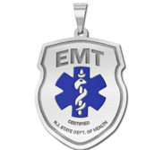 Certified Emergency Medical Technician   EMT Pendant w  Your Department