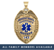 Custome EMT Family Badge w  Your Badge Number