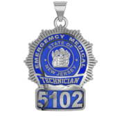 Personalized Emergency Medical Technician   EMT Badge w  Your Number   State or City