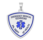 Personalized Certified EMT with Your Department Pendant