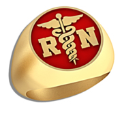 Registered Nurse   Round Signet RN Ring