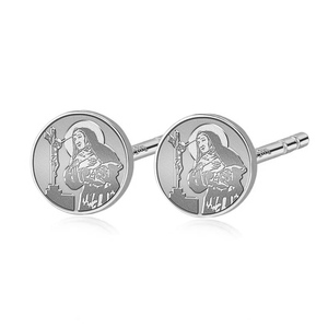 Pair of Saint Rita Stud Earrings