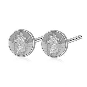 Pair of Saint Christopher Stud Earrings