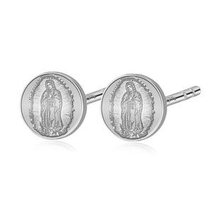 Pair of Our Lady of Guadalupe Stud Earrings