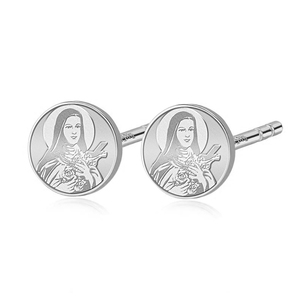 Pair of Saint Theresa Stud Earrings