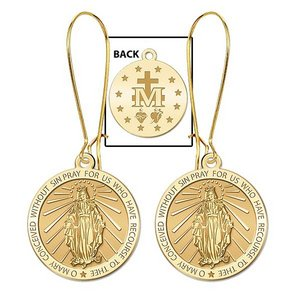 Miraculous Medal Double Sided Earrings  EXCLUSIVE
