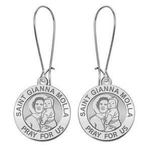 Saint Gianna Beretta Molla Earrings  EXCLUSIVE