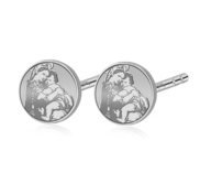 Pair of  Blessed Mother  Virgin Mary Stud Earrings