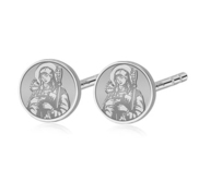 Pair of Saint Brigid of Ireland Stud Earrings