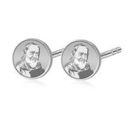 Pair of Padre Pio Stud Earrings