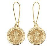 Saint Christopher Earrings  EXCLUSIVE