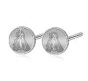 Pair of  Divine Mercy Jesus Stud Earrings