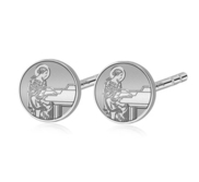 Pair of Saint Cecilia Stud Earrings