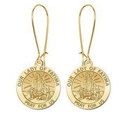 Our Lady of Fatima Earrings  EXCLUSIVE