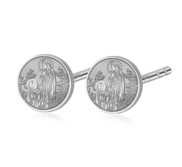 Pair of Saint Bernadette Stud Earrings