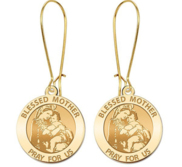 Blessed Mother  Virgin Mary Earrings  EXCLUSIVE
