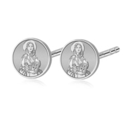 Pair of Saint Dymphna Stud Earrings