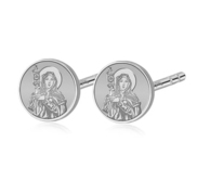 Pair of Saint Clare of Assisi Stud Earrings