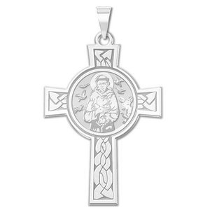 Saint Francis of Assisi Cross Religious Medal   EXCLUSIVE