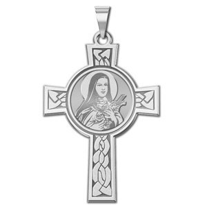 Saint Theresa Cross Religious Medal  EXCLUSIVE