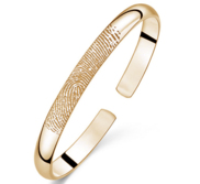 Personalized 5mm Bangle Cuff Fingerprint Bracelet
