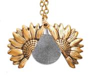 Exclusive Sunflower Fingerprint Necklace   Chain