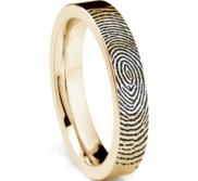 Women s Custom Fingerprint Flat Band Ring