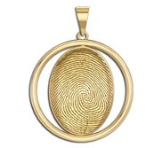 Custom Fingerprint 3D Round Pendant