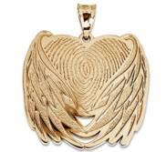 Custom Fingerprint Angel Wing Charm or Pendant